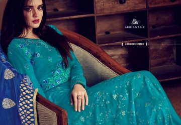 ARIHANT NX RIZWANA VOL 2 HEAVY RAYON EMBROIDERED GOWN  WHOLESALE PRICE (1) JPG
