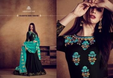 ARIHANT NX RIZWANA VOL 2 HEAVY RAYON EMBROIDERED GOWN  WHOLESALE PRICE (15)JPG