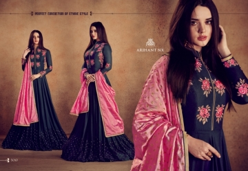 ARIHANT NX RIZWANA VOL 2 HEAVY RAYON EMBROIDERED GOWN WHOLESALE PRICE (17)JPG