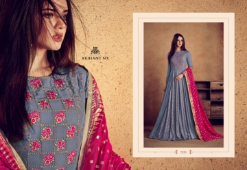 ARIHANT NX RIZWANA VOL 2 HEAVY RAYON EMBROIDERED GOWN WHOLESALE PRICE (18)JPG