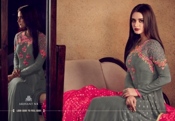 ARIHANT NX RIZWANA VOL 2 HEAVY RAYON EMBROIDERED GOWN  WHOLESALE PRICE (5) JPG