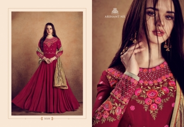 ARIHANT NX RIZWANA VOL 2 HEAVY RAYON EMBROIDERED GOWN  WHOLESALE PRICE (8) JPG