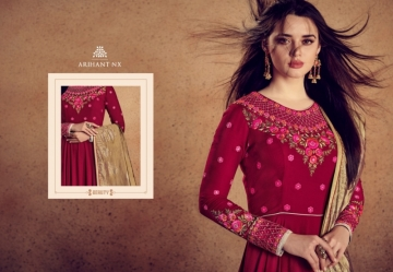 ARIHANT NX RIZWANA VOL 2 HEAVY RAYON EMBROIDERED GOWN  WHOLESALE PRICE (9) JPG