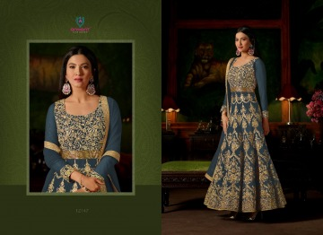 ARIHANT SASHI VOL 17 GEORGETTE HEAVY EMBROIDERY ANARKALI SALWAR KAMEEZ WHOLESALE PRICE (5) JPG