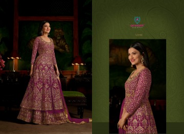 ARIHANT SASHI VOL 17 GEORGETTE HEAVY EMBROIDERY ANARKALI SALWAR KAMEEZ WHOLESALE PRICE (6) JPG