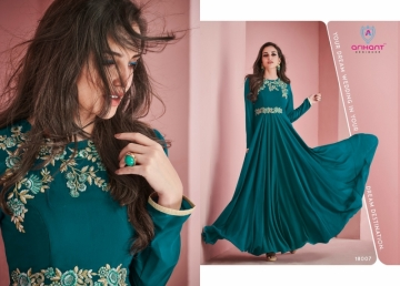 ARIHANT SUI DHAAGA FOX GEORGETTE WITH HEAVY EMBROIDERY ANARKALI KURTIS WHOLESALE PRICE (15)JPG