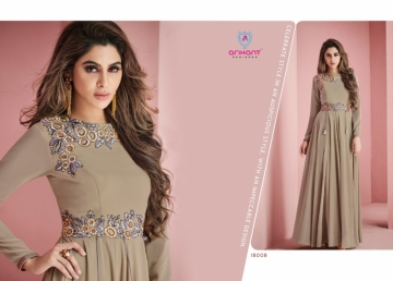 ARIHANT SUI DHAAGA FOX GEORGETTE WITH HEAVY EMBROIDERY ANARKALI KURTIS WHOLESALE PRICE (16)JPG