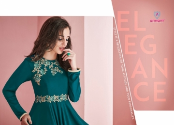 ARIHANT SUI DHAAGA FOX GEORGETTE WITH HEAVY EMBROIDERY ANARKALI KURTIS WHOLESALE PRICE (17)JPG