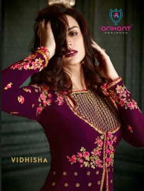 ARIHANT VIDHISHA GEORGETTE ANARKALI SUITS WHOLESALE PRICE (1) JPG