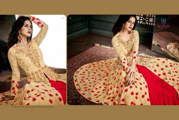 ARIHANT VIDHISHA GEORGETTE ANARKALI SUITS WHOLESALE PRICE (12) JPG