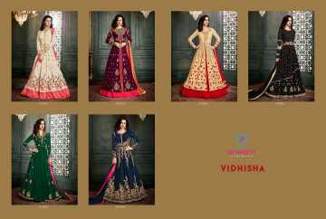 ARIHANT VIDHISHA GEORGETTE ANARKALI SUITS WHOLESALE PRICE (16) JPG