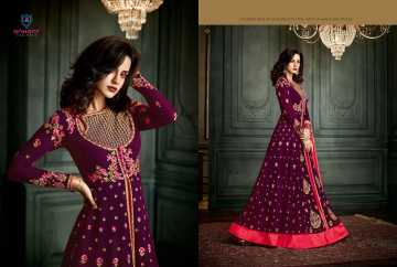 ARIHANT VIDHISHA GEORGETTE ANARKALI SUITS WHOLESALE PRICE (6) JPG