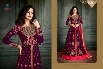 ARIHANT VIDHISHA GEORGETTE ANARKALI SUITS WHOLESALE PRICE (7) JPG