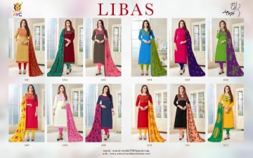 AVC PRESENTS LIBAS BOMBAY COTTON FLEX SUITS WITH DUPATTA NAZMIN WORK WHOLESALE PRICE(15)JPG