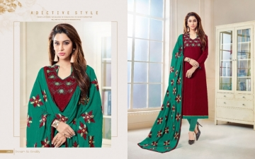 AVC PRESENTS LIBAS BOMBAY COTTON FLEX SUITS WITH DUPATTA NAZMIN WORK WHOLESALE PRICE(4)JPG