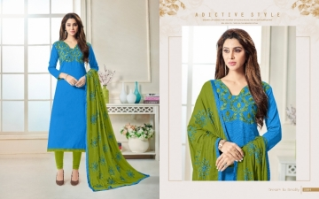 AVC PRESENTS LIBAS BOMBAY COTTON FLEX SUITS WITH DUPATTA NAZMIN WORK WHOLESALE PRICE(5)JPG