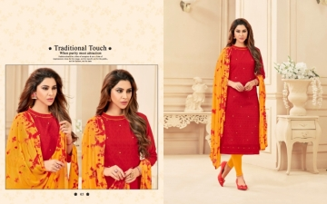 AVC PRINCE VOL-1 CAMRIC CHIKAN WORK WITH HAND WORK SALWAR SUITS WHOLESALE PRICE(7)JPG