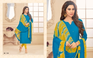 AVC PRINCE VOL-1 CAMRIC CHIKAN WORK WITH HAND WORK SALWAR SUITS WHOLESALE PRICE(12)JPG