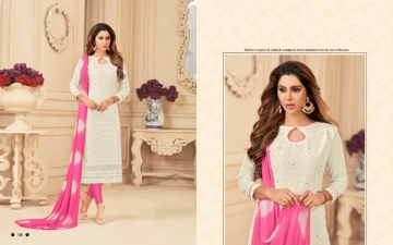 AVC PRINCE VOL-1 CAMRIC CHIKAN WORK WITH HAND WORK SALWAR SUITS WHOLESALE PRICE(13)JPG