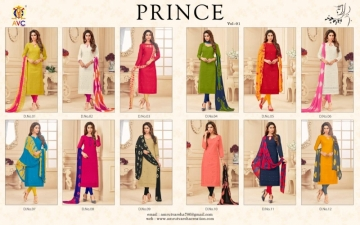 AVC PRINCE VOL-1 CAMRIC CHIKAN WORK WITH HAND WORK SALWAR SUITS WHOLESALE PRICE(14)JPG