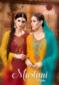 BAANVI MASTANI PATIYALA  GLACE COTTON WITH EMBROIDERED WORK SUITS WHOLESALER(01)JPG