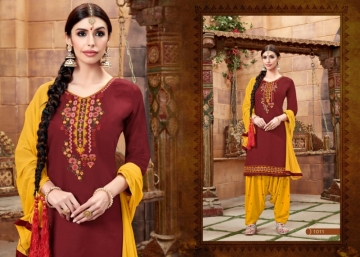 BAANVI MASTANI PATIYALA  GLACE COTTON WITH EMBROIDERED WORK SUITS WHOLESALER(12)JPG