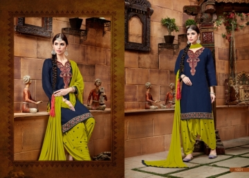 BAANVI MASTANI PATIYALA  GLACE COTTON WITH EMBROIDERED WORK SUITS WHOLESALER(2)JPG