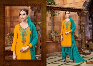 BAANVI MASTANI PATIYALA  GLACE COTTON WITH EMBROIDERED WORK SUITS WHOLESALER(7)JPG