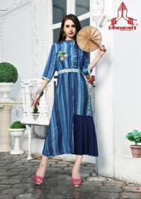 DHANYAWAD PRITO ROSE SATIN SLUB DIGITAL PRINTED KURTIS WHOLESALE PRICE(10JPG