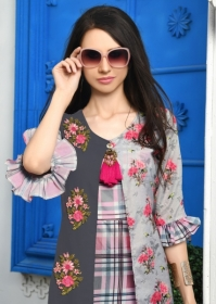 DHANYAWAD PRITO ROSE SATIN SLUB DIGITAL PRINTED KURTIS WHOLESALE PRICE(12)JPG
