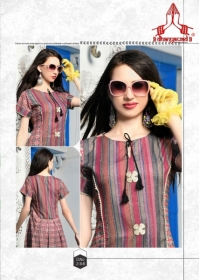 DHANYAWAD PRITO ROSE SATIN SLUB DIGITAL PRINTED KURTIS WHOLESALE PRICE(14)JPG