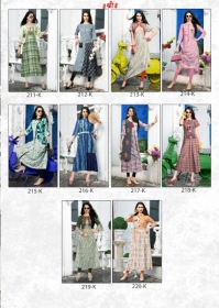 DHANYAWAD PRITO ROSE SATIN SLUB DIGITAL PRINTED KURTIS WHOLESALE PRICE(15)JPG