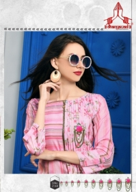 DHANYAWAD PRITO ROSE SATIN SLUB DIGITAL PRINTED KURTIS WHOLESALE PRICE(18)JPG