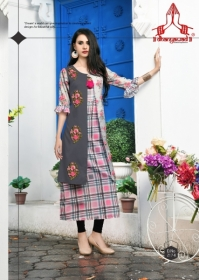 DHANYAWAD PRITO ROSE SATIN SLUB DIGITAL PRINTED KURTIS WHOLESALE PRICE(1)JPG