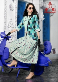 DHANYAWAD PRITO ROSE SATIN SLUB DIGITAL PRINTED KURTIS WHOLESALE PRICE(4)JPG