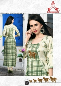 DHANYAWAD PRITO ROSE SATIN SLUB DIGITAL PRINTED KURTIS WHOLESALE PRICE(5)JPG