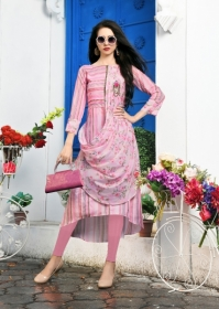 DHANYAWAD PRITO ROSE SATIN SLUB DIGITAL PRINTED KURTIS WHOLESALE PRICE(6)JPG