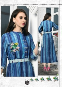 DHANYAWAD PRITO ROSE SATIN SLUB DIGITAL PRINTED KURTIS WHOLESALE PRICE(7)JPG