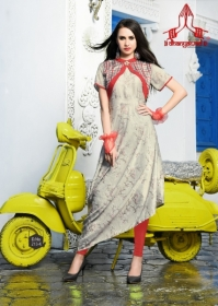 DHANYAWAD PRITO ROSE SATIN SLUB DIGITAL PRINTED KURTIS WHOLESALE PRICE(8)JPG