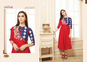 ETERNAL ARTERY VOL-2 COTTON LONG KURTIS WHOLESALE PRICE (12) JPG