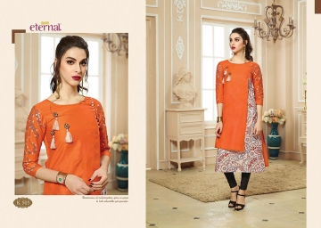 ETERNAL ARTERY VOL-2 COTTON LONG KURTIS WHOLESALE PRICE (3) JPG