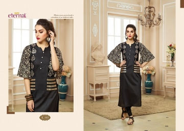 ETERNAL ARTERY VOL-2 COTTON LONG KURTIS WHOLESALE PRICE (4) JPG