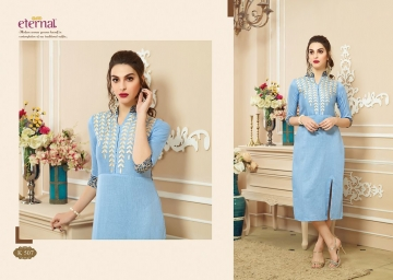 ETERNAL ARTERY VOL-2 COTTON LONG KURTIS WHOLESALE PRICE (5) JPG