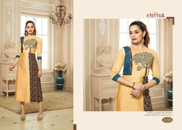 ETERNAL ARTERY VOL-2 COTTON LONG KURTIS WHOLESALE PRICE (6) JPG