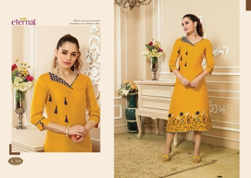 ETERNAL ARTERY VOL-2 COTTON LONG KURTIS WHOLESALE PRICE (7) JPG