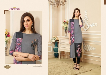 ETERNAL ARTERY VOL-2 COTTON LONG KURTIS WHOLESALE PRICE (8) JPG