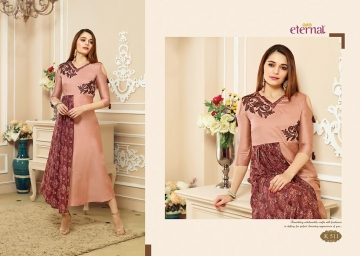 ETERNAL ARTERY VOL-2 COTTON LONG KURTIS WHOLESALE PRICE (9) JPG