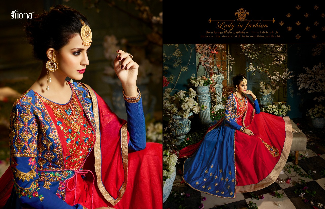 Tirupati Wholesale FIONA ZARA VOL 5 EMBROIDERED PARTY WEAR DRESSES ...