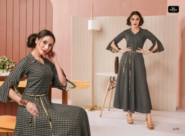 Four-Buttons-Hashtag-Pure-Cotton-Ankle-Length-Gown-Style-Kurti-Collection-3