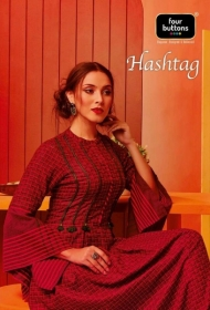 Four-Buttons-Hashtag-Pure-Cotton-Ankle-Length-Gown-Style-Kurti-Collection-6-1